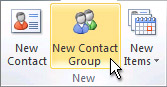 new contact group