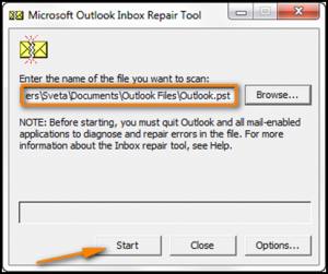 "Resolve ""Cannot start Microsoft Outlook Unable to open"