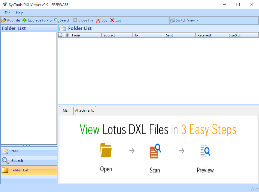 DXL File Reader to open DXL files