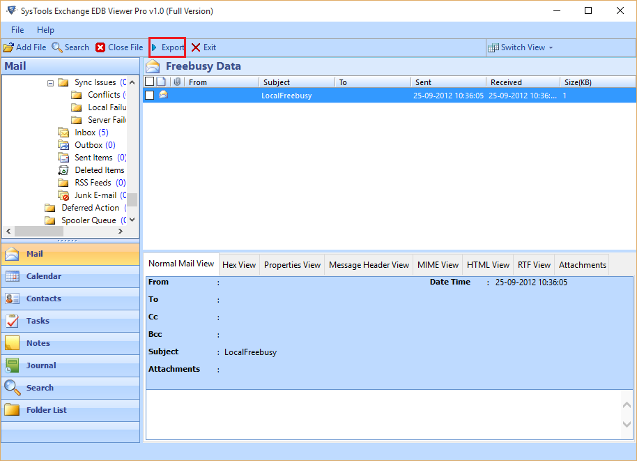 Exchange EDB to PDF Converter