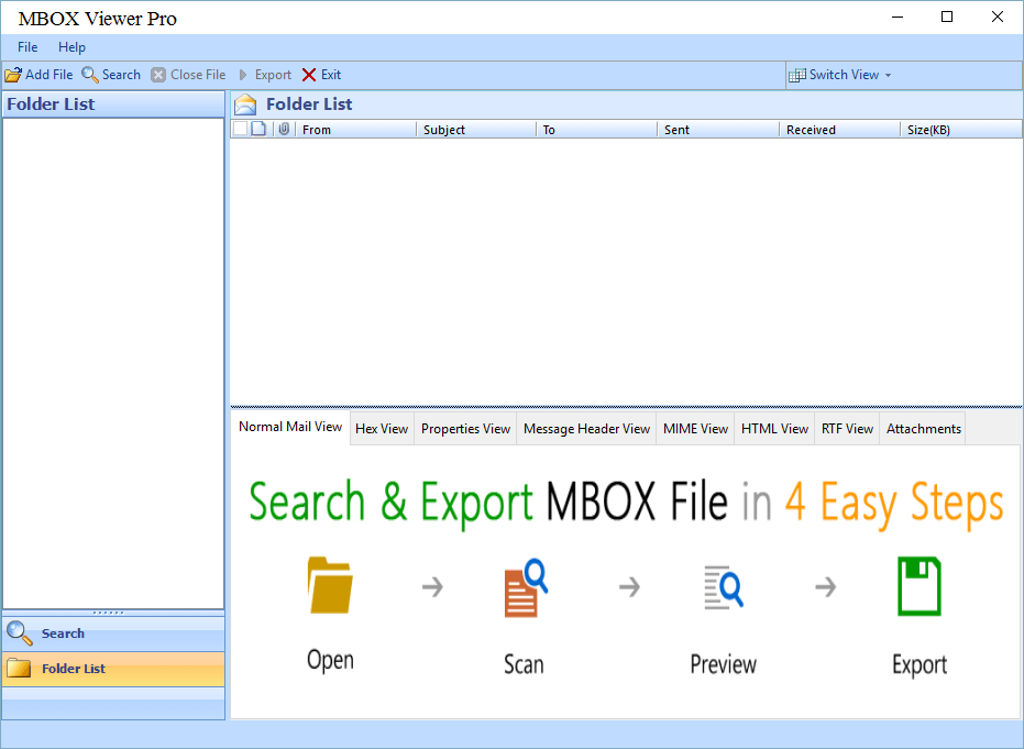 Pro Version with Option to convert MBOX file to PDF