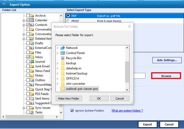 Convert PST to MSG Files Free